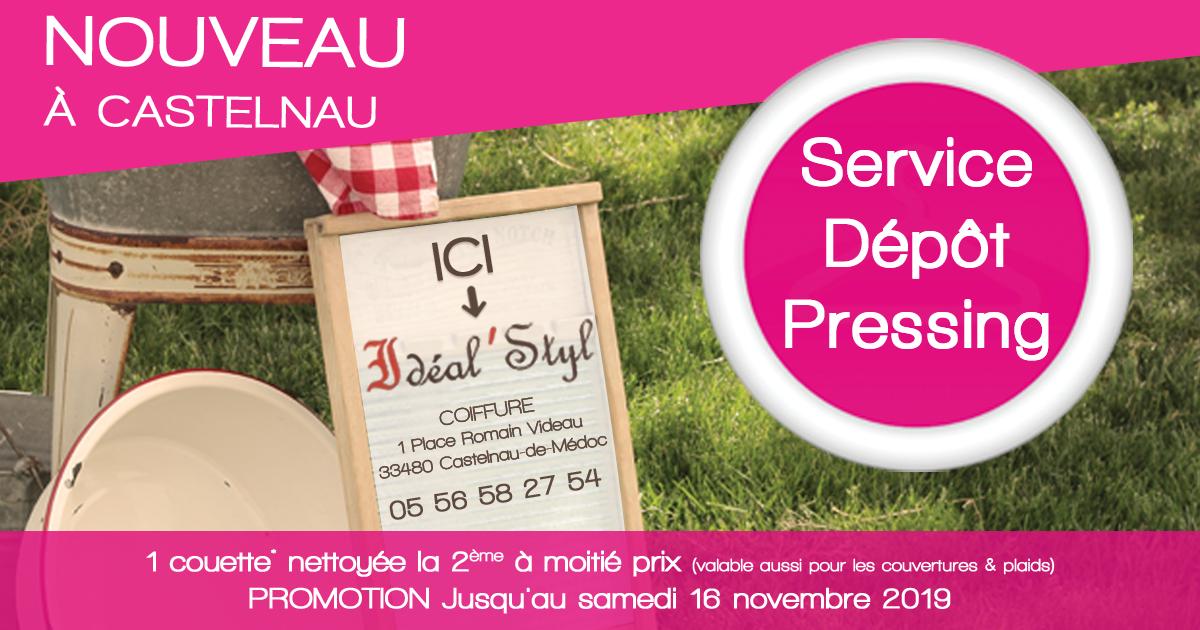 FAcebook Post depot castelnau - Nouveau ! Dépôt de pressing à Catelnau-de-Médoc
