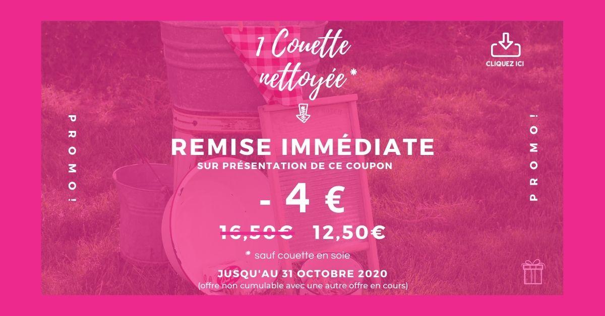 Clean pressing promotion 1 couette 4 euros 20201012 3 - 1 couette nettoyées -4 €